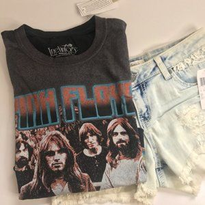 Pink Floyd World Tour Crop Top By true Vintage